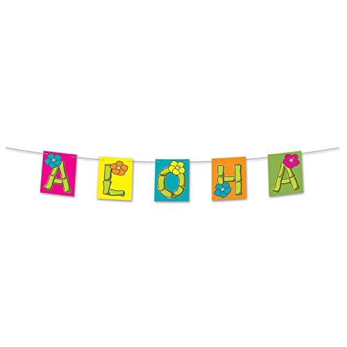 Beistle 54108 Aloha Streamer, 8-1/2-Inch by 5-Feet, Multicolor