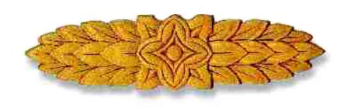 UNIQANTIQ HARDWARE SUPPLY Leaves-Flower Center Birch Applique - 11-3/4