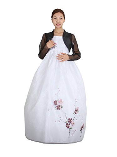 Hanbok Korea Traditional Costumes Women Junior Party Weddings Birthday Special Ceremony co112 (skirt length 148cm (165-170cm)) by Hanbok store