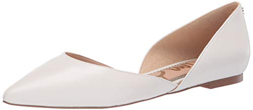 Sam Edelman Women's Rodney Ballet Flat, Bright White Leather, 6.5 M -