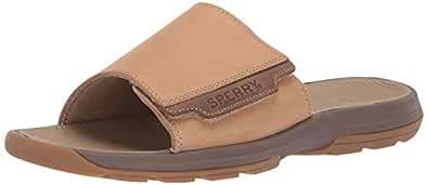 Sperry Mens Whitecap Slide Sandals, Tan, 7