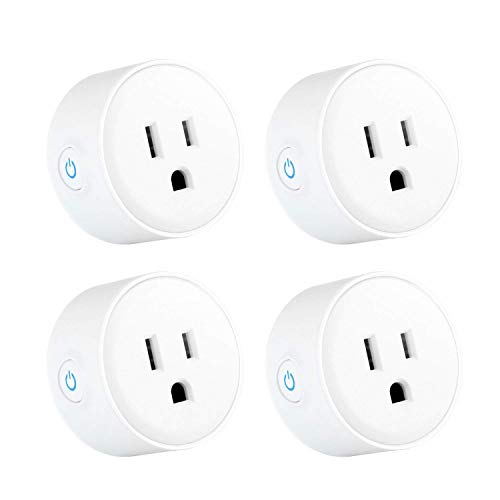 WiFi Smart PlugCompatible with Alexa iHoan Smart Socket Control from Anywhere Via Free APP for iOS/Android with Timing Function No Hub Required Grey