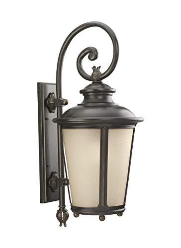 Sea Gull Lighting 8824397S-780 Extra Large LED Outdoor Wall Lantern Burled Iron