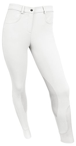 ECP RideTex Competition Breeches White Size - Leg Patch Breeches