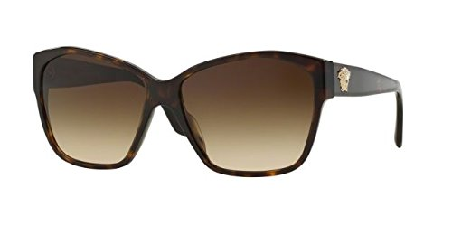 Versace VE4277A Sunglasses 108/13-60 - Havana Frame, Brown - All Versace Sunglasses
