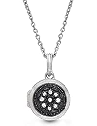 Sterling Silver-Custom Photo Locket Necklace-That Holds Pictures for Women and Girls-The Roxette