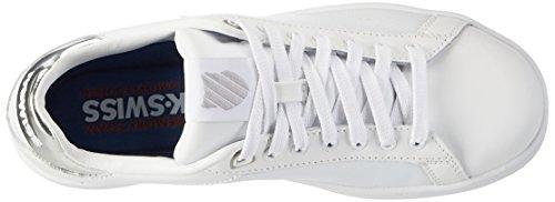 Clean Women's Fashion Sneaker White Silver 133 White CMF Court Swiss K g6fxEqwFq