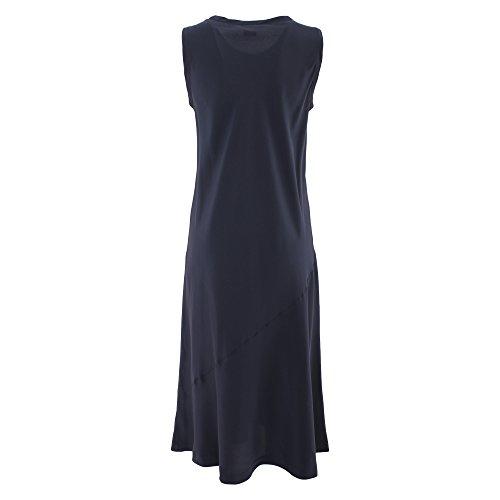 Aspesi Damen H605B75305098 Blau Seide Kleid 9RehBOA - mandatory ...
