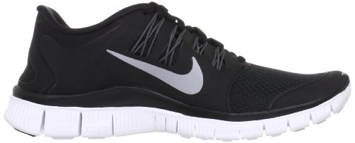Nike Free Metallic Running Shoe 0 Dark Grey White Silver Women's Black 5 rF5wqrU