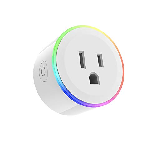 Price comparison product image TNAIVE Wifi Smart Plug, Wireless Switch Remote Socket Outlet With RGB LED Light, Remote Control by Smart Phone Compatible with Alexa, Google Home IFTTT, Echo Plug In