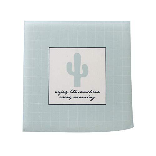 Summer Cool Mint Green Non-Slip Memory Cotton Cushion, Plant Flower mat, Nordic Cotton pad (Shape : Mint Green Cactus)