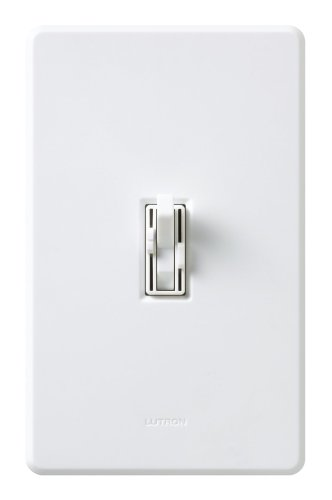 Lutron TG2-LFSQH-WH Toggler Fan and Light Control White