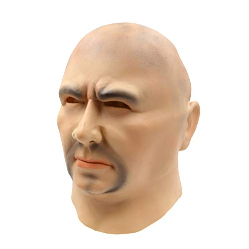 FENICAL Halloween Costume Mask Gangland Latex Head Masks Costume Head Cover Halloween Headgear Party Favors for Kids Adults Funny Photo Props]()