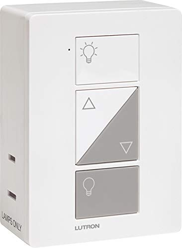 Lutron Caseta Smart Home Plug-in Lamp Dimmer Switch, Works with Alexa, Apple HomeKit, and The Google Assistant | PD-3PCL-WH | White (Sunset Lamp Inc)