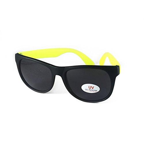 Retro Matte Frame UV Sunglasses Yellow and - Sunglasses Bee Gold