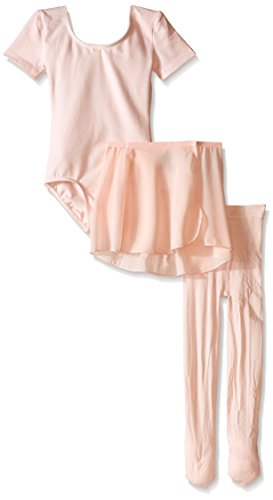 Danskin Little Girls' Dance Ballerina Starter Kit, Theatrical Pink Combo, (Danskin Pink Skirt)