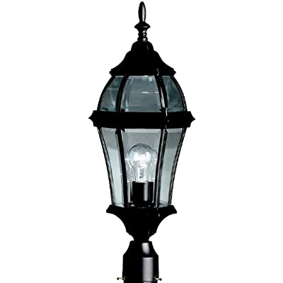 Kichler 9992BK, Townhouse Aluminum Outdoor Post Lighting, 100 Total Watts, Black (Painted) - Outdoor Post Lights - .com