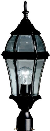 KICHLER 9992BK Townhouse Outdoor Post Mount 1-Light, Black by KICHLER