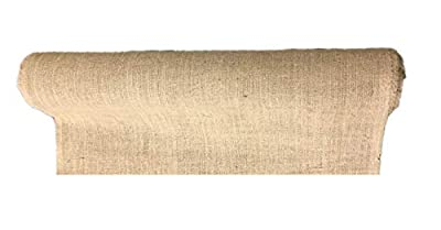 """AAYU 40"""" Wide Light Weight Burlap Fabric roll 150 -Ft Long, Lose Weaved Garden Netting, Edging, Erosion control & Weed Barrier"""