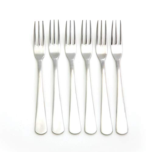 Norpro Stainless Steel Hors D'oeuvres Forks Set of 6, Silver