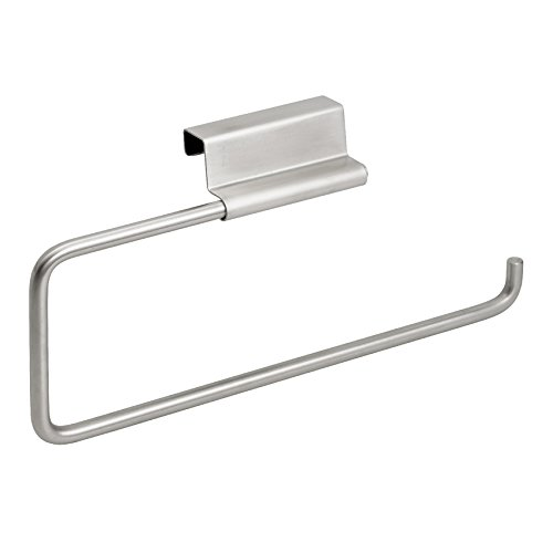 InterDesign Kitchen, Brushed Stainless Steel Forma Over The Cabinet Paper Towel Holder,