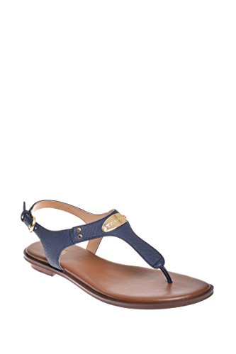 Open Toe Sandals Michael Kors (MICHAEL Michael Kors Womens Plate Thong Open Toe Casual Slide, Navy, Size 9.0)