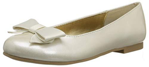 Ivory Patent Footwear - NINA Kids Girls Pegasus Slip On, Ivory Patent/Satin, Size 12.5 M Us Little Kid