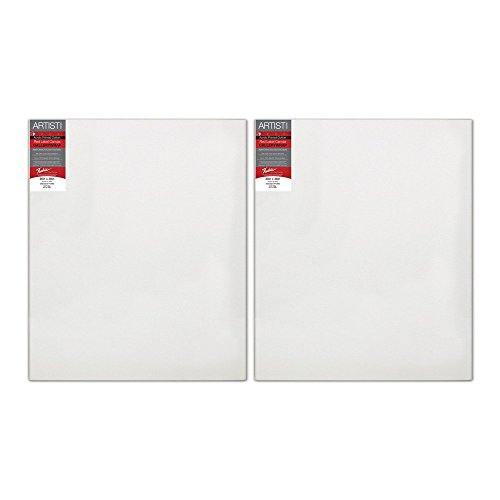 Fredrix 5035 Stretched Canvas, Standard Stretcher Bars, 30 by 36-Inch, 2 Pack (5035A)