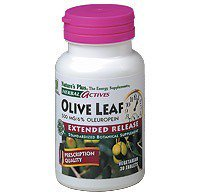 Olive Leaf 30 Tablets (Nature's Plus - Olive Leaf Extract 500 mg, 30 Extended Release Tablets)