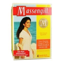 Massengill disposable douche, with extra cleaning vinegar and water - 6 fl Oz X 2 by Massengil