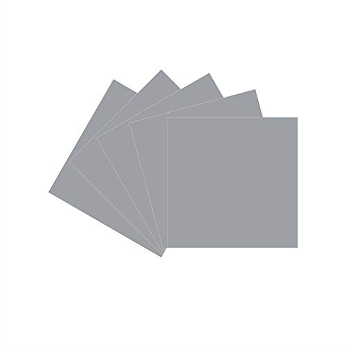 12 x 12 Permanent Vinyl Oracle 651, 5 Packs Silver Grey Indoor, Outdoor Adhesive-Backed Vinyl in Glossy Finish for Silhouette and Cricut to Make Monograms Stickers Decals and Signs