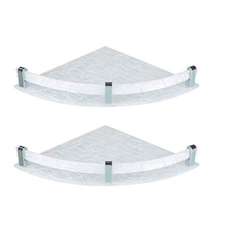 Spiry Acrylic Bathroom Corner Shelf-Wall Shelf(Set of 2,White) (B07HHCXRG5) Amazon Price History, Amazon Price Tracker