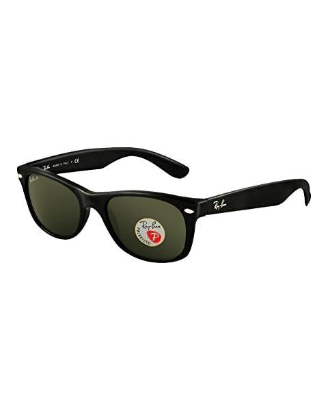5a6964e614 Ray-Ban RB2132 New Wayfarer Sunglasses Unisex (Black Frame Polarized Black  Lens