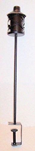 Aunt Chris' Products - Clamp-on-Railing ~ Metal 30 Inch Outdoor Tiki Torch (Diamond Shape Design - Dark Bronze Finish)