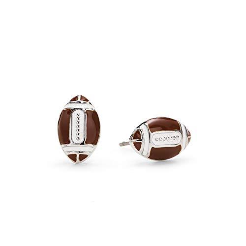 Enamel Football - GIMMEDAT Football Enamel Post Earrings  Lead & Nickel Free   Sport Player or Fan Gift