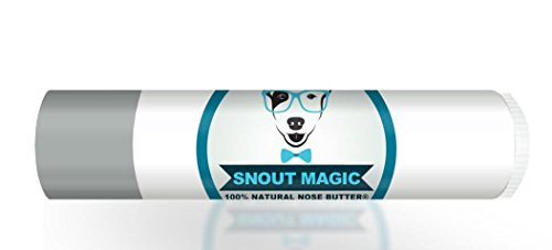 Snout Magic: Traveler Size - 100% Organic Dog Nose Butter Balm (.15 oz) Soothes Dry & Cracked Dog Snouts Like Magic! Proven to Cure Dog's Dry Rough Crusty Nose & Hyperkeratosis. Made in USA