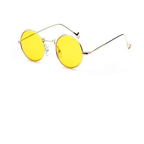 DERTILP gold fashion metal small oval women's 07 Lunettes frame glasses sunglasses Transparent sunglasses women's rwtfar4Rq