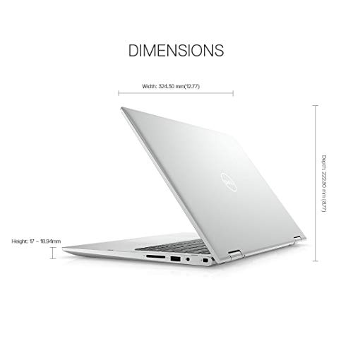 Dell Inspiron 5406 11th Gen 14inch FHD 2in1 Laptop( i3-1115G4 / 4GB / 256 SSD /Integrated Graphics/ Win 10/MS Office 19/ Active Pen/Platinum Silver),D560365WIN9S
