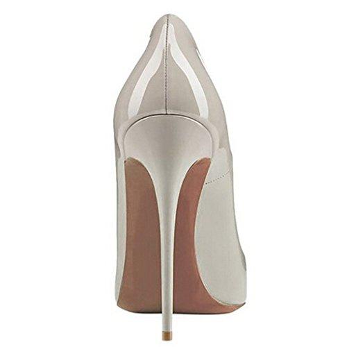 Klassische Grau01 Schwarz Kleid Stiletto Büro Pumps Sexy High Jushee Damen Heels Oxq1TgvEw
