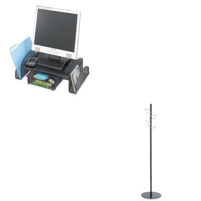 KITSAF2159BLSAF4191 - Value Kit - Safco Spiral Nail Head Costumer (SAF4191) and Safco Onyx Mesh Steel Monitor Stand (SAF2159BL)