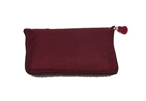 HFjingjing - Bolsa de viaje plegable reutilizable (color rojo vino)