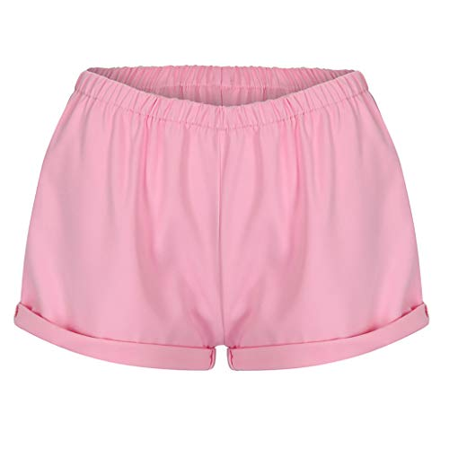 Botrong Womens Shorts, Sexy Shorts Solid High Waist Short Pants Casual Beach Shorts Pink ()