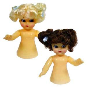 Air Freshener Dolls - Set of Two Dolls - One Blond and (Blonde Craft Doll)
