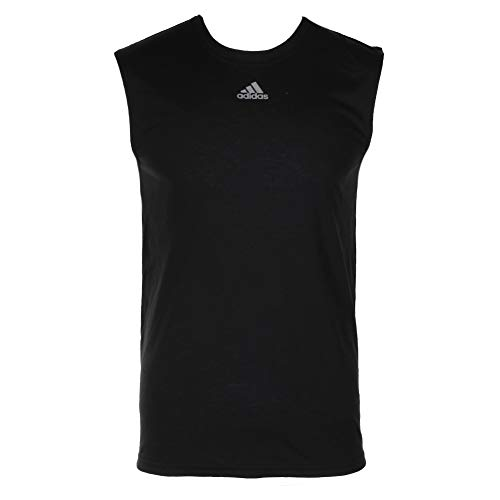 adidas Men's Climalite Sleeveless Ultimate Tee (Black, 2X-Large)