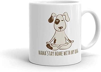 DKISEE Yoga Dog, Namaste Mug, Buddha Dog, Yoga Mug, Yoga ...