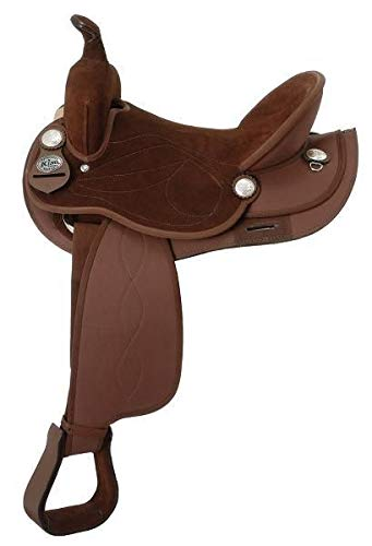 (King Series Suede Seat Synthetic Trail Saddle )