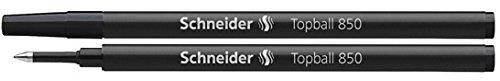 2 x Schneider Topball 850 Black Rollerball Refills