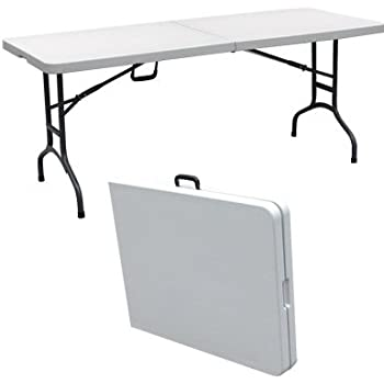 Amazon Com Palm Springs 6 Portable Plastic Banquet Table