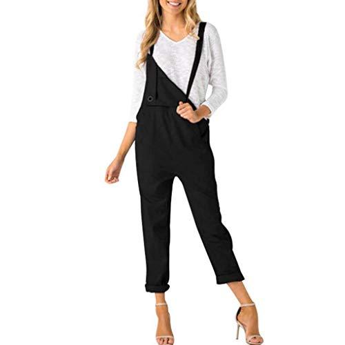 Salopette Solid Bodysuit Poches Bretelles Windy5 Slim Jumpsuit Spaghetti Femmes Longues Black wnTYCxZqXA