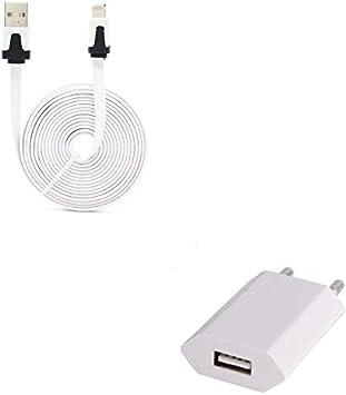 Shot Case Pack Cargador para iPhone 5 Lightning (Cable Noodle 3M + Enchufe de Color USB) Apple iOS (Blanco): Amazon.es: Electrónica